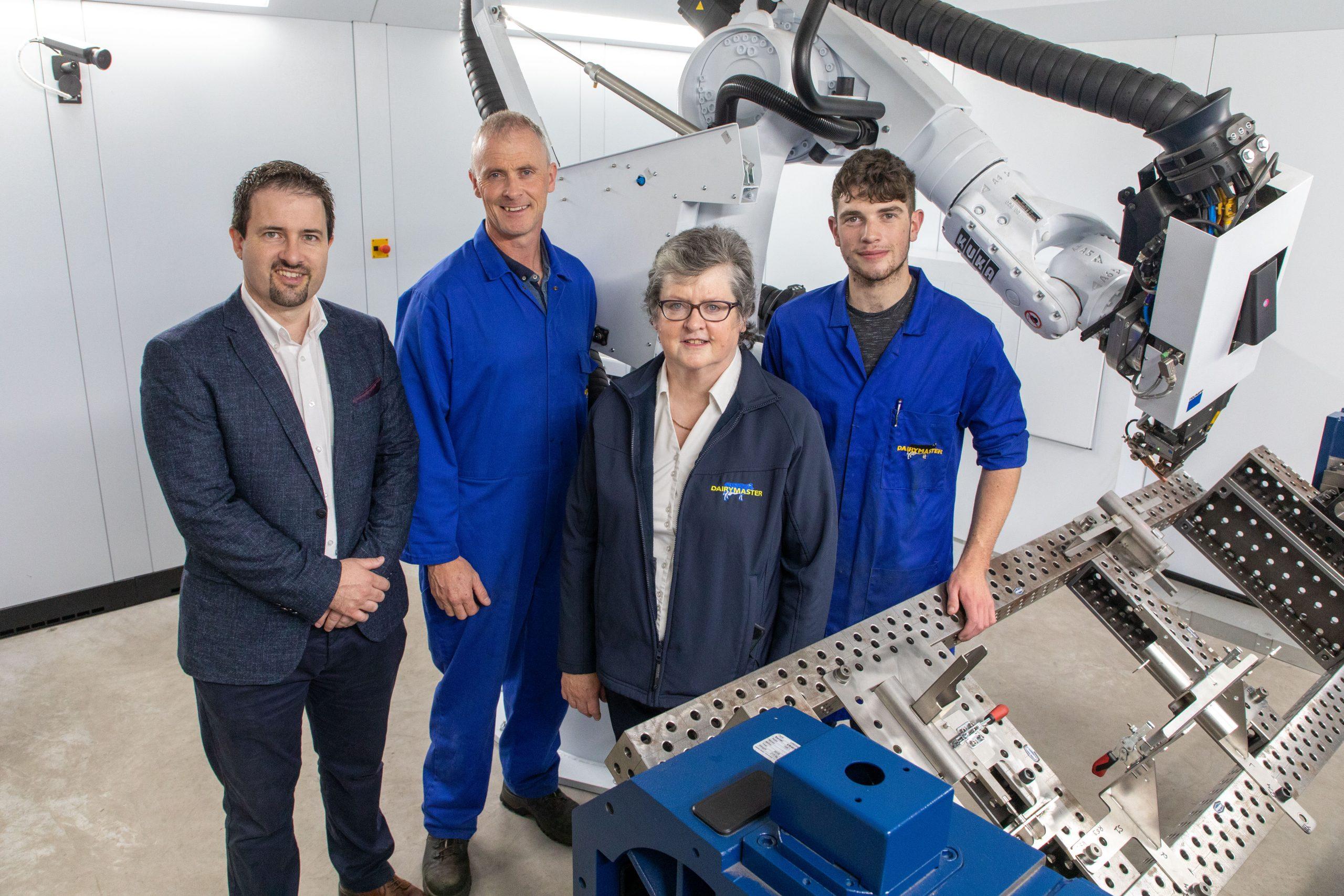 Dairymaster are recruiting L-R John Harty, Alan Murphy, Breda Flaherty, David Lynch, Dairymaster